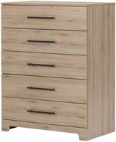 South Shore Primo 5-Drawer Chest, Rustic Oak