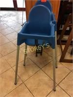 Blue Plastic High Chair
