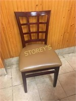 Checkered Cushioned Dining Chair
