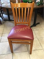 Slat Back Cushioned Dining Room Chair