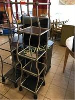 5 Tier Glass Dancing Table - 14 x 14 x 60