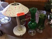 Lamp & Vases