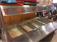 4 Well Steam Table on Wheels w/