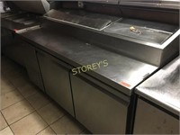 """Ascend 68"""" Refrigerated Topping Station on Wheels"""