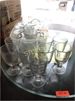 Qty of Libbey Goblet Glasses