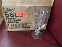 12 New Libbey Goblet Glasses