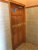 Men's Bathroom Door w/ Automatic Closure