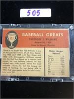 1961 Fleer Ted Williams Baseball Card