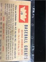 1960 Fleer Babe Ruth Baseball Card