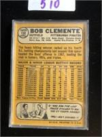 1960s Bob Clemnte Baseball Card