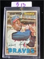 1960s Hank Aaron Braves Baseball Card