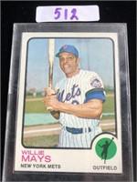 1970s Willie Mays Baseball Card