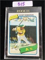 1980 Topps Rickey Henderson Baseball Card