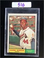 1960s Hank Aaron Baseball Card
