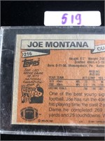 1981 Joe Montana Football Card