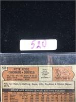 1970s Reds Pete Rose Baseball Card