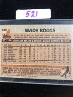 1983 Topps Wade Boggs Baseball Card