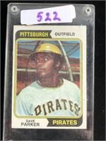 1970s Dave Parker Baseball Card