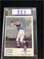 1960s George Blanda Football Card