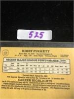 1984 Kirby Puckett Baseball Card