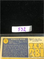 1970s Reggie Jackson Baseball Card
