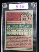 1975 Topps Robin Yount Baseball Card