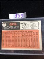 1966 Willie Mays Baseball Card