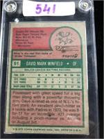 1975 Dave Winfield Baseball Card