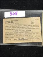 1952 Frank Gifford Baseball Card