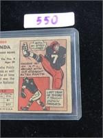 1957 Topps George Blanda Baseball Card