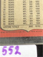 1987 Topps Walter Payton Football Card