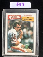 1987 Joe Montana Topps Football Card