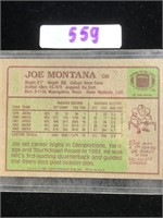 1984 Topps Joe Montana Football Card