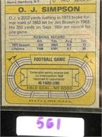 1974 Topps O.J Simpson Football Card