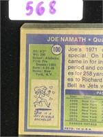 1972 Joe Namath Football Card