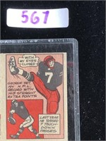 1957 Topps George Blanda Football Card