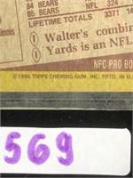 1986 Walter Payton Topps Football Card