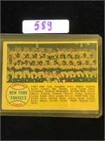 1958 Topps New York Yankees Team Card