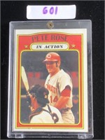 1972 Topps Pete Rose In Action Baseball Card