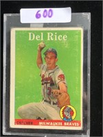 1951 Topps Del Rice Baseball Card