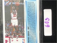 Micheal Jordan Mvp Chicago Bulls Card