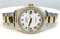 Rolex Two Two Tone Diamond Watch