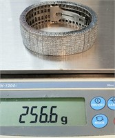 Huge 95 carats 18k white gold bracelet Retail 250K 257 grams