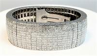 Huge 95 carats 18k white gold bracelet Retail 250K 257 grams