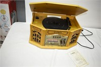 Curtis Phonograph with AM/FM Radio & CD Player