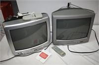(2) TV's with Remotes