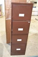 4-Drawer Metal Filing Cabinet with Key