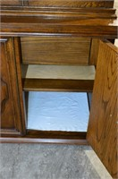 China Cabinet with Glass Display Shelves