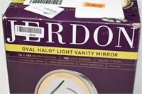 Jerdon Oval Halo Light Vanity Mirror