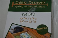 Bamboo Spring Loaded Drawer Dividers